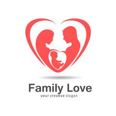 Logo family love