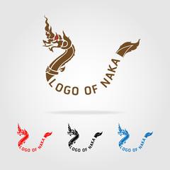 Thai buddhism dragon, naka logo