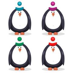 set of flat vector penguin