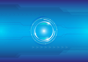 Technology communication concept, vector abstract background