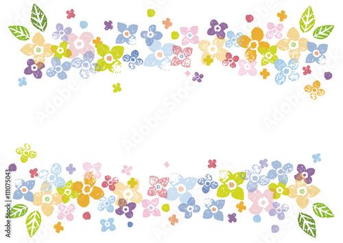 カラフルな花の飾り枠イラストfotoliacom の ストック画像と