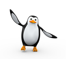 3d penguin dancing
