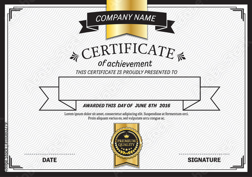 modern certificate template vector illustration design EPS ...