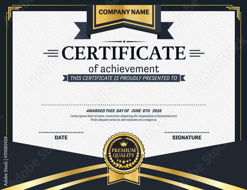 Elegant gold blue certificate template vector illustration design elegant gold blue certificate template vector illustration design eps illustrator 10 yelopaper Images