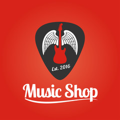 Music store vector logo