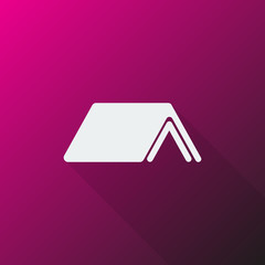White Roof icon on pink background