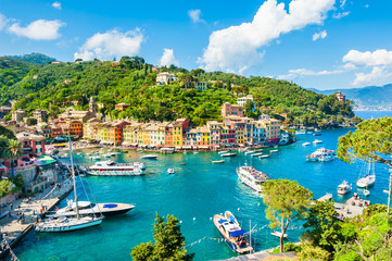 Foto auf AluDibond Ligurien Beautiful view of Portofino, Liguria, Italy