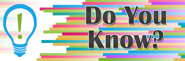 Do You Know Colorful Lines Horizontal