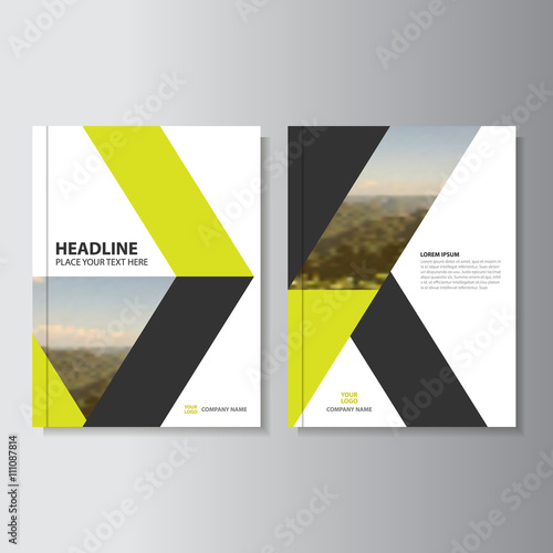 Book Cover Design Costs : Quot yellow black business proposal vector leaflet brochure