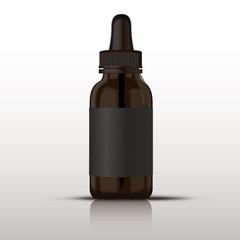 Vector glass vaping bottle