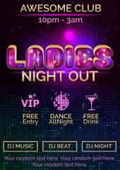 Poster template for ladies night out