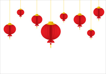 chinese lantern template vectorillustration - Chinese New Year Lanterns