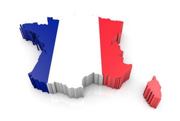 Umriss Frankreich 3d