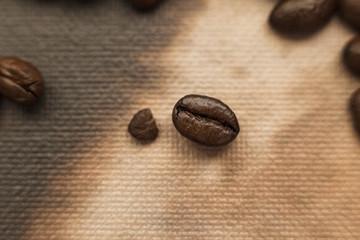 Coffee Bean on Texture (Detail)