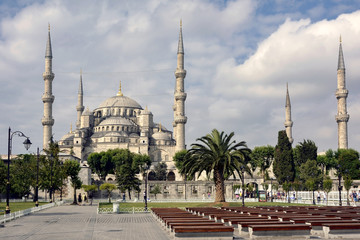 External view of the Blue Mosque in Istanbul