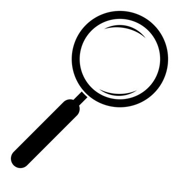 Magnifying glass icon. Magnifier. Isolated