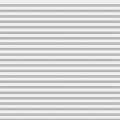 Seamless simple monochrome minimalistic pattern. Modern stylish texture. Straight horizontal lines and dots