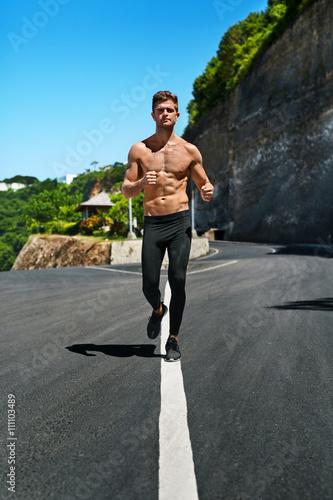 Marathon runner body male