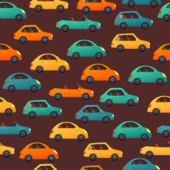 Car vector seamless pattern