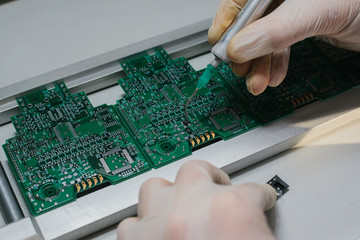 microchip production factory