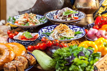 Salads in Oriental style