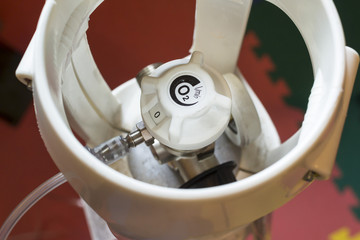 Close up the dispensing medical oxygen device