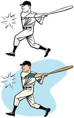 Baseball player hits a home run