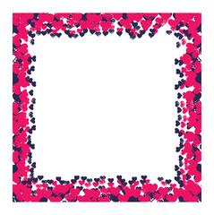 hearts on  background vector illustration. Hearts photo frame v