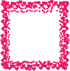 hearts on  background vector illustration. Hearts photo frame