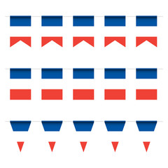 French buntings garlands
