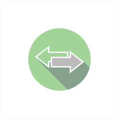 illustration arrow icons back and forth. direction. pointer. ve