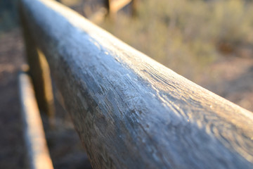 Fence detail at LaPine State Park