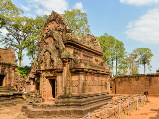 Banteay Srei, a 10th century temple dedicated to the Hindu god Shiva - Angkor, Cambodia