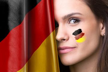 German young female fan