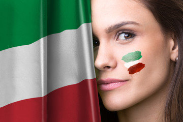 Italian young female fan