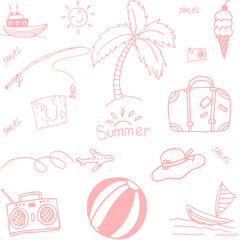 picnic summer doodle