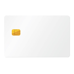 White credit card on white background