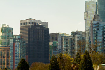 Wall Mural - High Rises in Vancouver B.C.