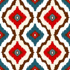 Tribal art ethnic seamless pattern. Ikat