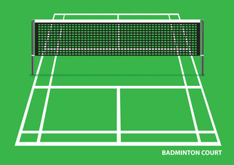 Badminton Court Vector Illustration