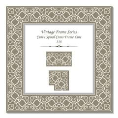 Vintage 3D frame 358 Curve Spiral Cross Frame Line