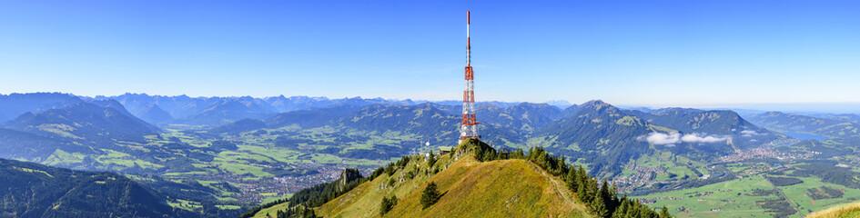 Wall Mural - Ausblick auf das Oberallgäu vom Gipfel des Grünten
