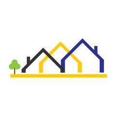 Real Estate Icon Vector Logo