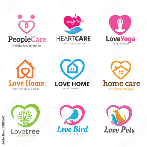 Home and family logo - Home health care logo design ...