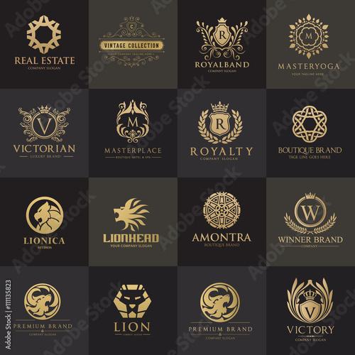 Luxury logo set,Best selected collection,Hotel logo,crest logo set ...