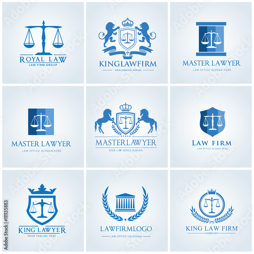 Law office logo collection.lawyer icon. The judge, Law firm logo ...