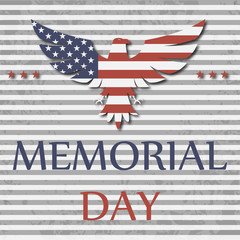 Happy memorial day background with eagle