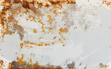 Fototapete - Empty rusted metal sheet background texture
