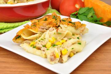 Tuna Fish And Cheese Pasta Bake