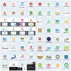 Abstract company logo collection. Marketing logo template. brand identity. vector logo template.
